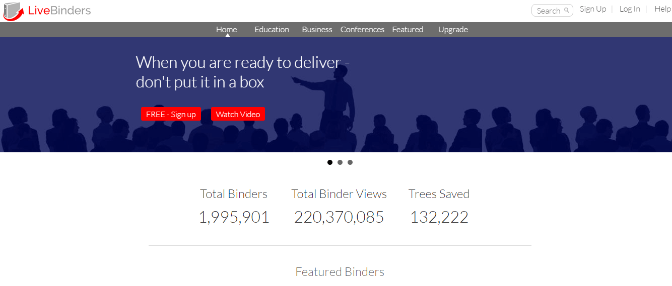 Create Digital Binders with LiveBinders