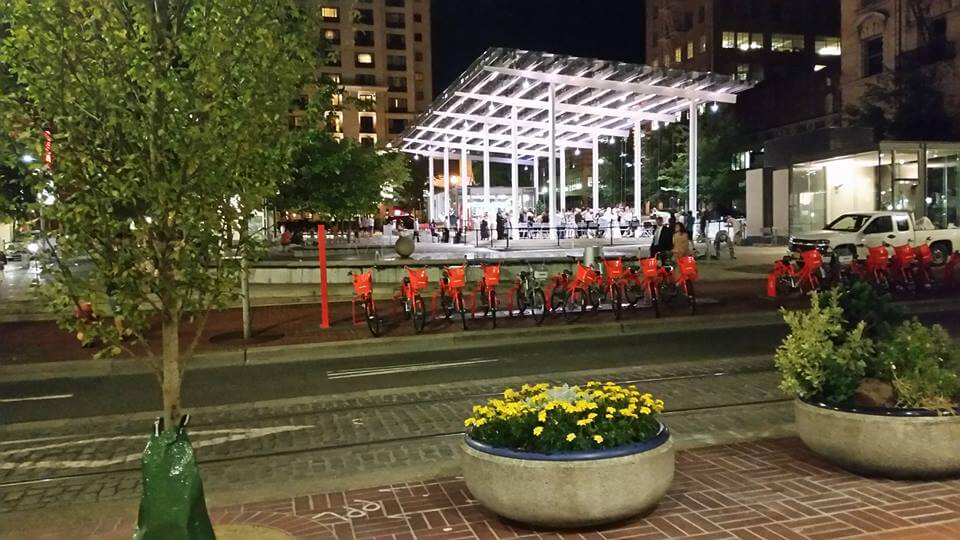 Portland Bike Share at Night