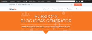HubSpot Idea Generator Main Page