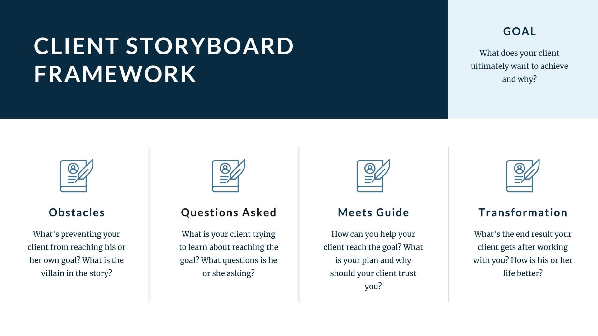Client Story Board Framework
