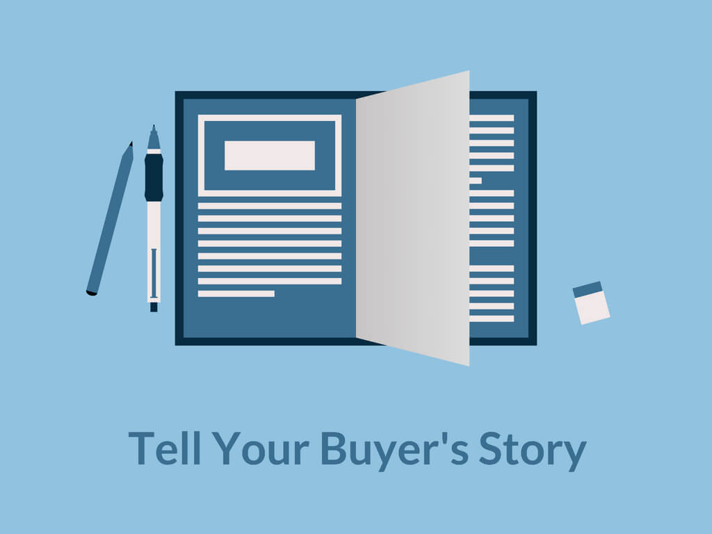Note Book. Tell Your Buyer's Story