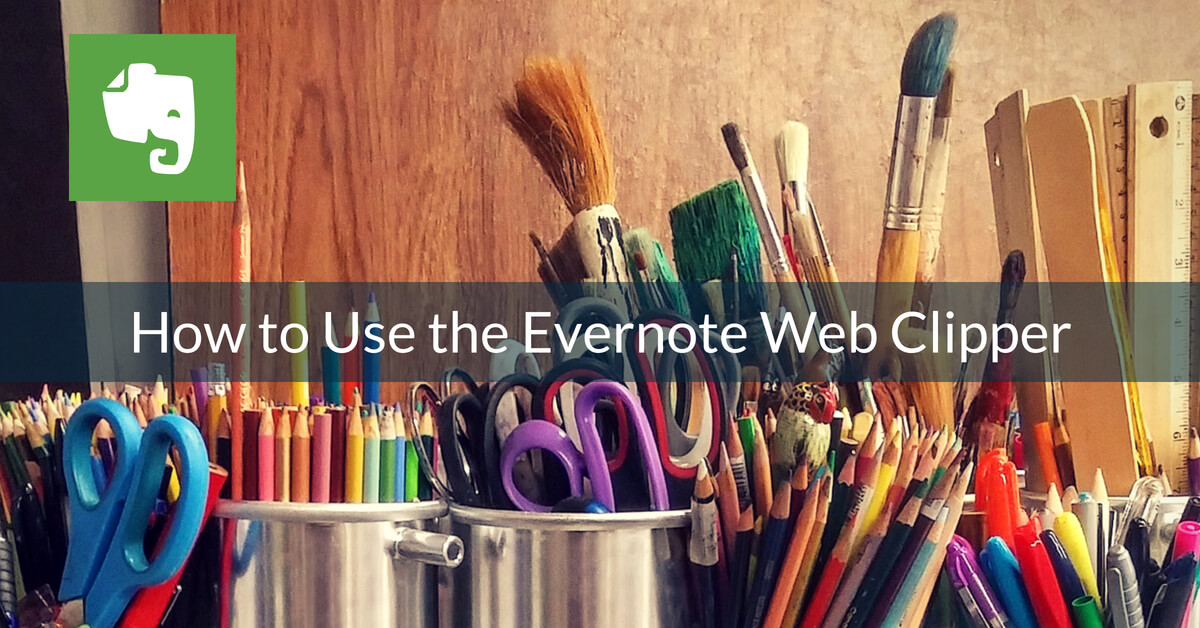 How to use the Evernote Web Clipper