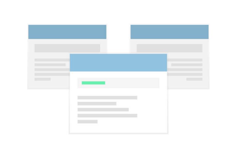 Three Website Windows