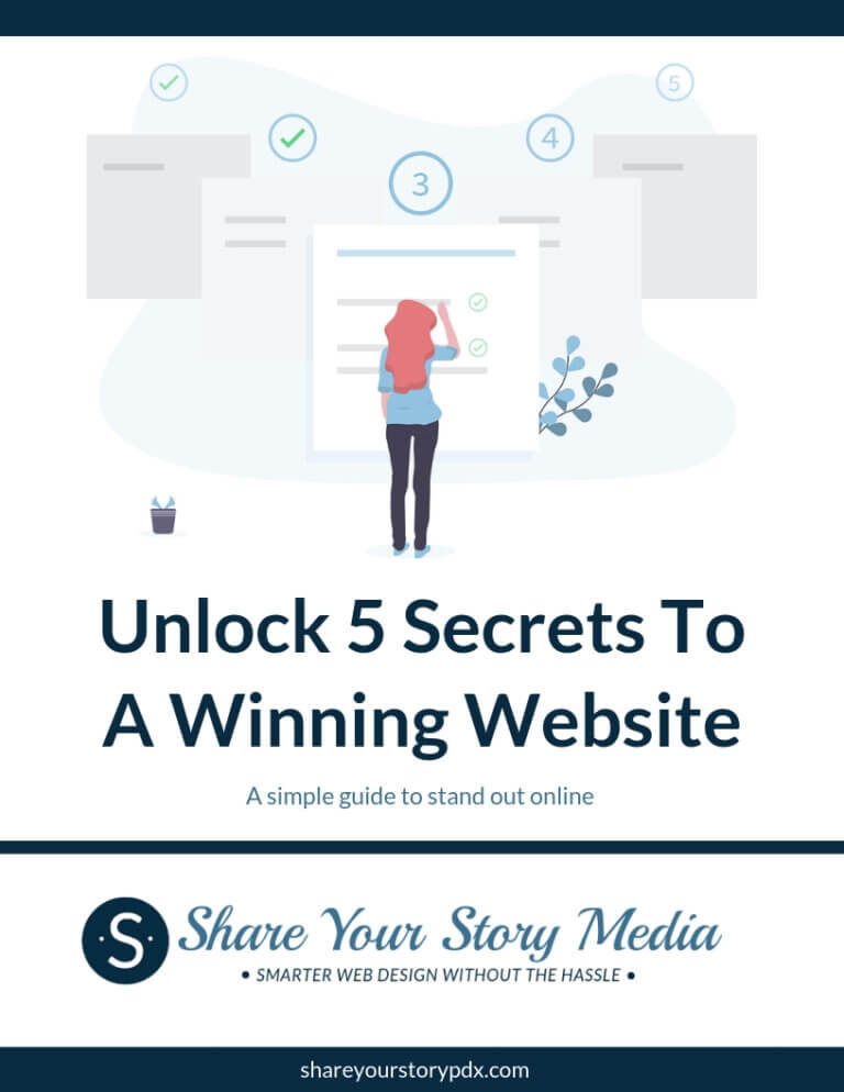 Unlock 5 Secrets to Winning Website Cover Page