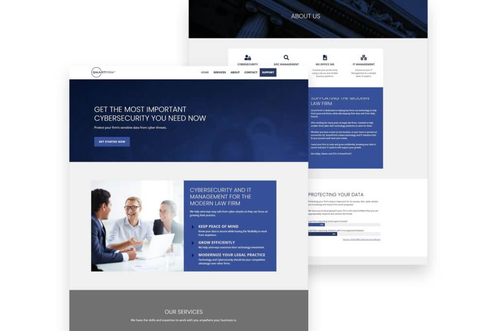 SmartFirmIT Website Mockup